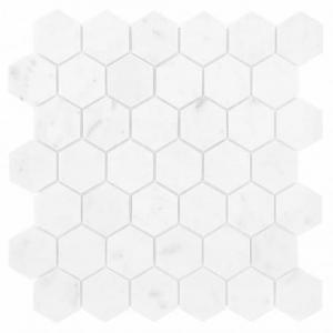 DUNIN  Carrara White Hexagon 48